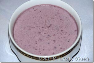 chilled blackberry soup