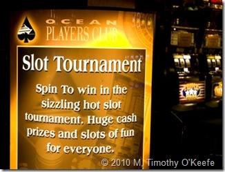 slots tournament sign