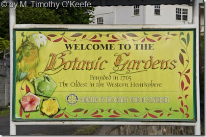 St Vincent Botanical Garden Sign -1