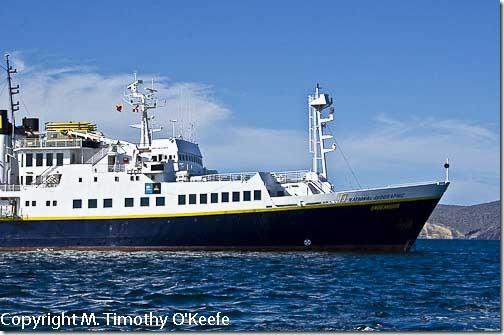 Galapagos Santiago Island Lindblad Endeavour cruise ship