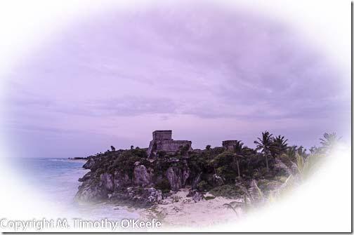 El Castillo Maya Ruins at Tulum, Riviera Maya, Mexico