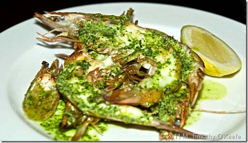 prawns with garlic and pesto-1