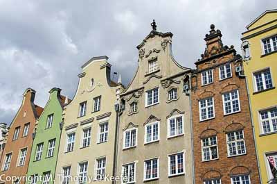 Gdansk Poland Old City buildings architecture