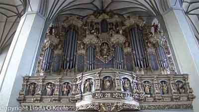 St. Nicholas Church organ, Gdansk Old Town, Poland