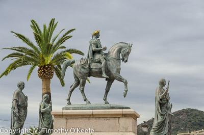 Napoleon Bonaparte Statue at Ajaccio Corsica
