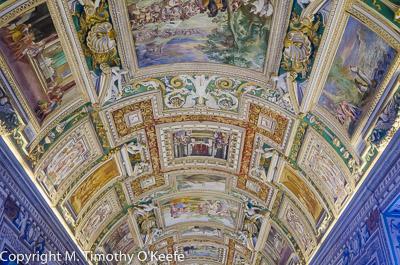 Prinsendam rome excursion Vatican Museum ceiling